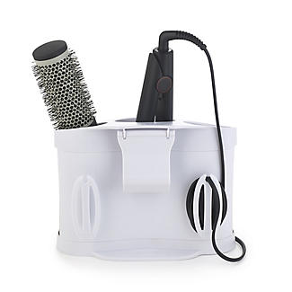 Style Station PRO Hairdryer & Straighteners Storage Holder - White alt image 2