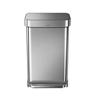simplehuman Kitchen Waste Pedal Bin - Brushed Steel 45L