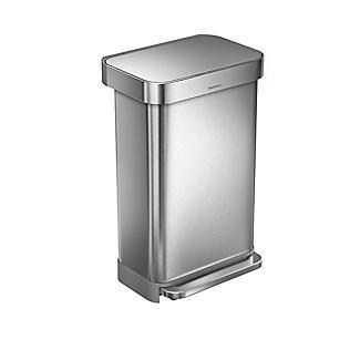 simplehuman Kitchen Waste Pedal Bin - Brushed Steel 45L alt image 2