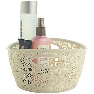 Mini Lace-Effect Storage Tub Cream