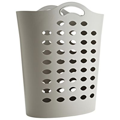 Tall Flexible Cappuccino Plastic Laundry Basket 55l Lakeland