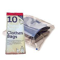 10 Transparente Kleiderbeutel mit Reißverschluss zur Aufbewahrung