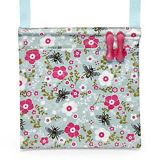 Pretty Bee Oilcloth Peg Bag
