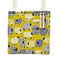 Dotty Sheep Oilcloth Peg Bag