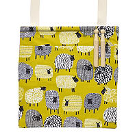 Dotty Sheep Oilcloth Peg Bag