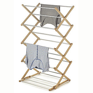Classic Traditional Concertina Indoor Clothes Airer 6m alt image 1