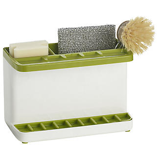 ILO Large Sink Tidy White and Green alt image 1