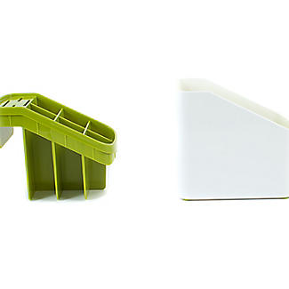 ILO Sink Cutlery Holder and Drainer White and Green alt image 7