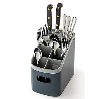 ILO Sink Cutlery Holder and Drainer Grey alt image 1