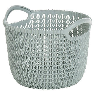 Extra Small Knit-Effect Basket Blue