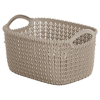 Extra Small Knit-Effect Tub Dune