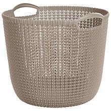 Large Round Knit-Effect Basket Dune