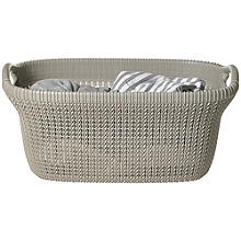 Knit-Effect Laundry Basket Dune