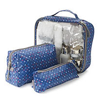 3 Diamond Sparkle Toiletry Bags