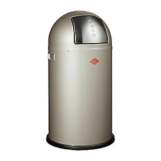 Wesco Pushboy Bin - Silver 50L