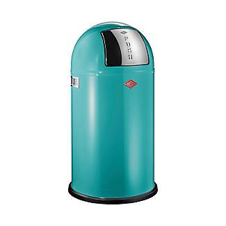Wesco Pushboy Bin - Turquoise 50L
