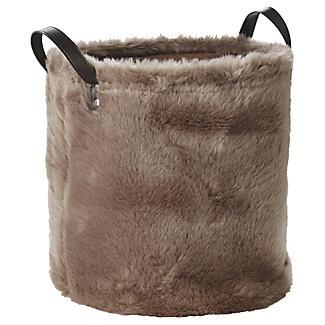 Faux Fur Storage Tote 21.5L