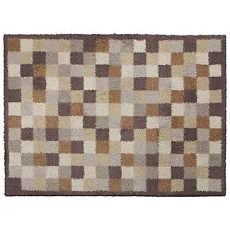 Fußmatte von Turtle Mat, Mini-Kacheln, Toffee