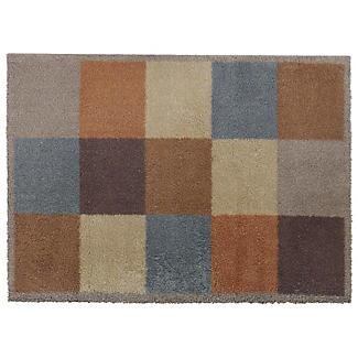 Fußmatte von Turtle Mat mit rostbraunen Quadraten