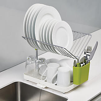 Joseph Joseph Y Rack Dish Drainer White and Green alt image 4