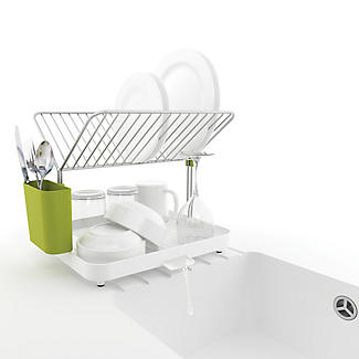 Joseph Joseph Y Rack Dish Drainer White and Green alt image 5