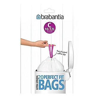20 Brabantia Size C PerfectFit Drawstring Bin Bags 12L