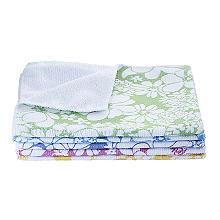 5 farbenfrohe Reinigungstücher mit Blütenmotiv, citrus
