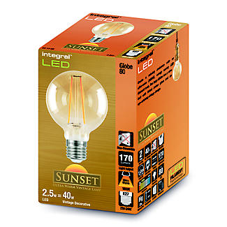 LED Filament Globe Screw-in Bulb Small ILGLOBE 27N001 alt image 2