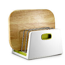 ILO Adjustable Chopping Board Storage Rack White and Green
