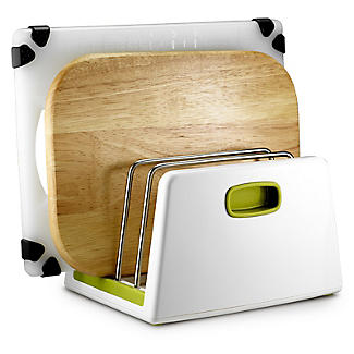 ILO Adjustable Chopping Board Storage Rack White and Green alt image 2