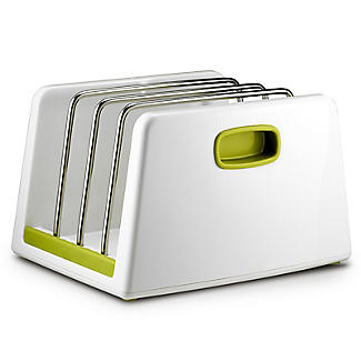 ILO Adjustable Chopping Board Storage Rack White and Green alt image 3