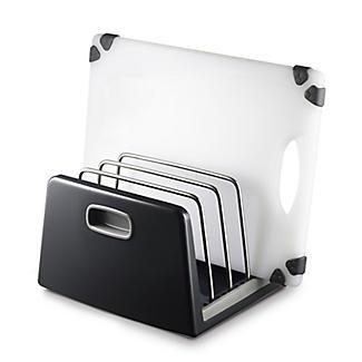 ILO Adjustable Chopping Board Storage Rack Grey
