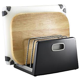 ILO Adjustable Chopping Board Storage Rack Grey alt image 2