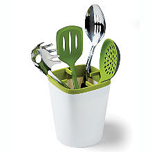 ILO Kitchen Utensil Pot White and Green