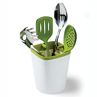 ILO Kitchen Utensil Pot White and Green alt image 1