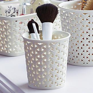 Aufbewahrungsbehälter aus Kunstrattan, klein, 3er-Pack