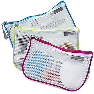 Travelon Set of 3 Assorted Mesh Travel Pouches