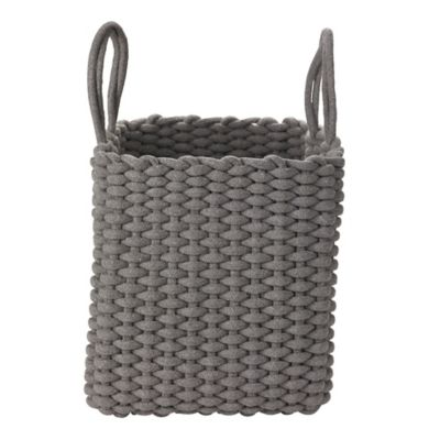 Square Woven Rope Tote Grey Lakeland