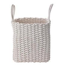 Square Woven Rope Tote Cream