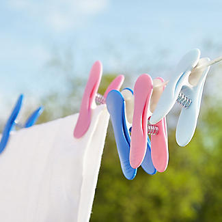 20 Soft Grip Clothes Pegs Vibrant alt image 5