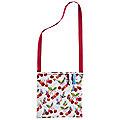 Cherry Orchard Oilcloth Peg Bag