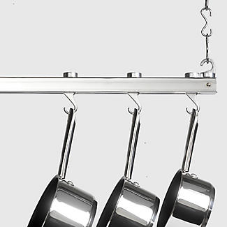 Hahn Chrome Single Bar Ceiling Rack 40219 alt image 3
