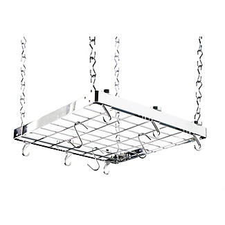 Hahn Square Chrome Ceiling Rack 40802 alt image 1