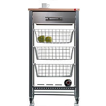 Hahn April Kitchen Trolley - Grey