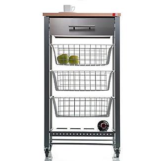 Hahn April Kitchen Trolley - Grey