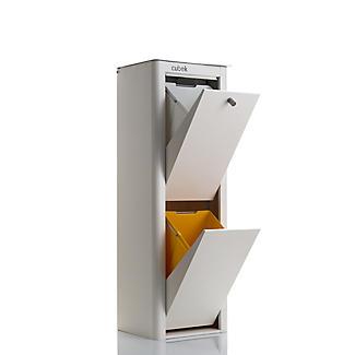 Hahn Cubek 2-Bin Recycling Unit - Warm White