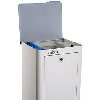 Hahn Cubek 2-Bin Recycling Unit - Warm White alt image 3
