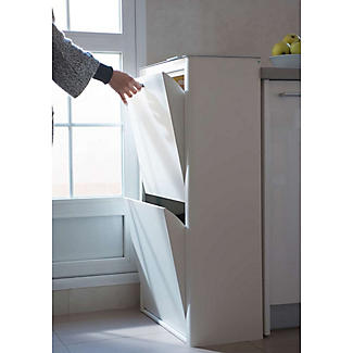 Hahn Cubek 2-Bin Recycling Unit - Warm White alt image 5