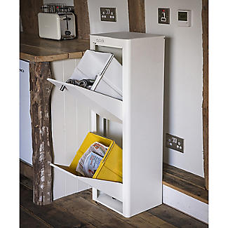 Hahn Cubek 2-Bin Recycling Unit - Warm White alt image 7