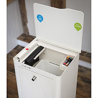 Hahn Cubek 2-Bin Recycling Unit - Warm White alt image 8